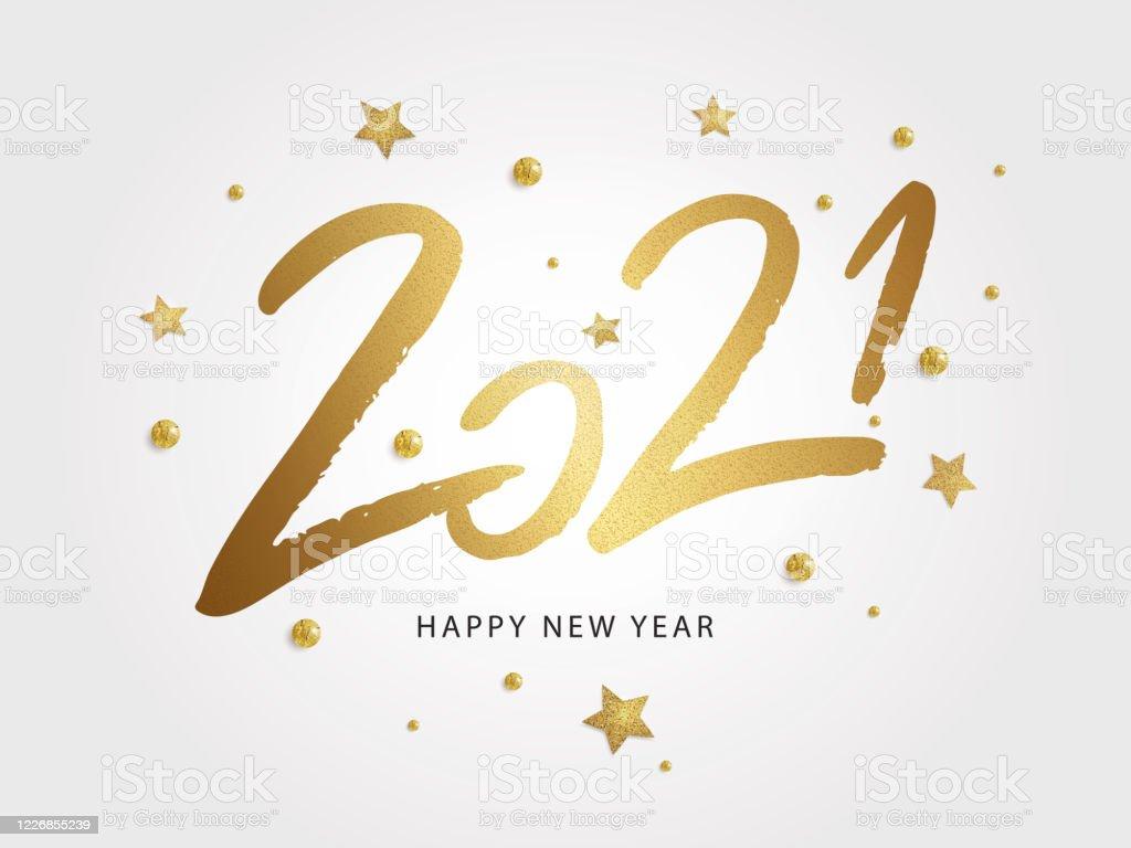 Bonne année 2021 illustration vectorielle de vacances - clipart vectoriel de 2021 libre de droits