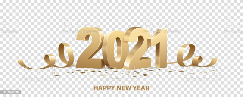 Happy New Year 2021 - Royalty-free 2021 arte vetorial