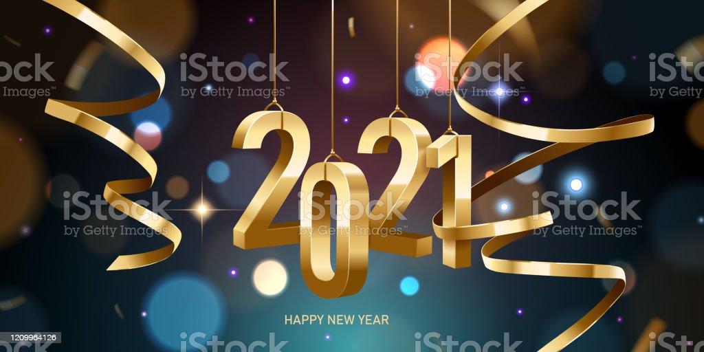 Happy New Year 2021 - Royalty-free 2021 arte vetorial