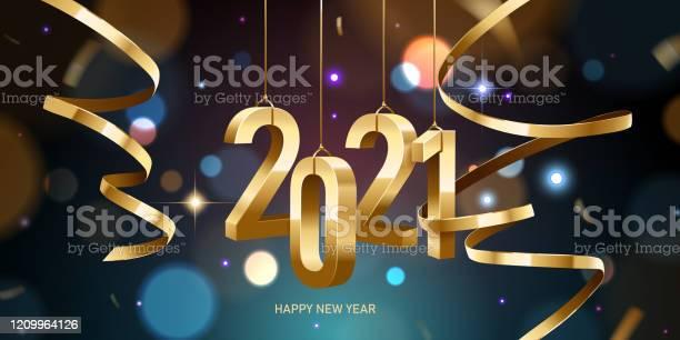 Happy New Year 2021 - Arte vetorial de stock e mais imagens de 2021