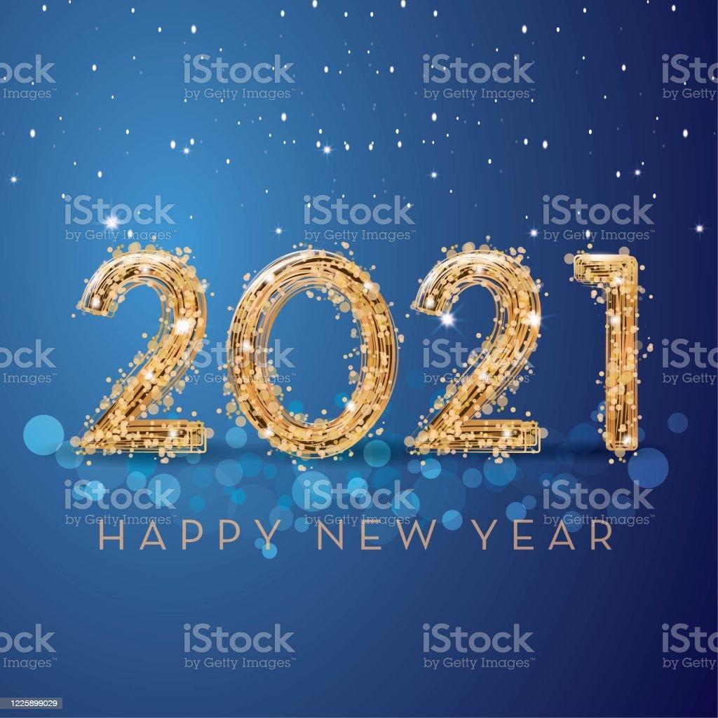 happy new year 2021 - Royalty-free 2020 arte vetorial