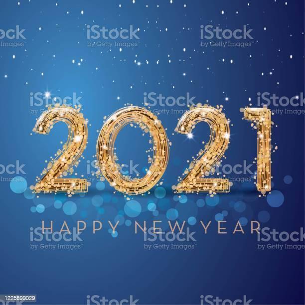 Happy New Year 2021 - Arte vetorial de stock e mais imagens de 2020