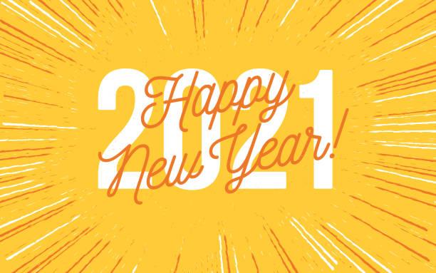 ilustraciones, imágenes clip art, dibujos animados e iconos de stock de feliz año nuevo 2021 - font