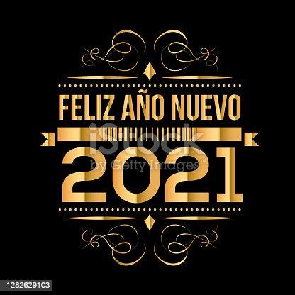 istock Happy New Year 2021 vector illustration stock illustration 1282629103