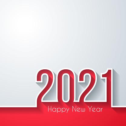 Happy new year 2021 - White background