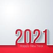 istock Happy new year 2021 - White background 1279935921