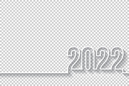 Happy new year 2022 Design - Blank Background