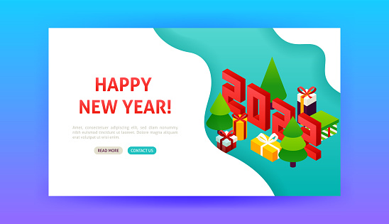 Happy New Year 2022 Landing Page