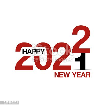 istock Happy New Year 2022 text design background for your Christmas 1327983233