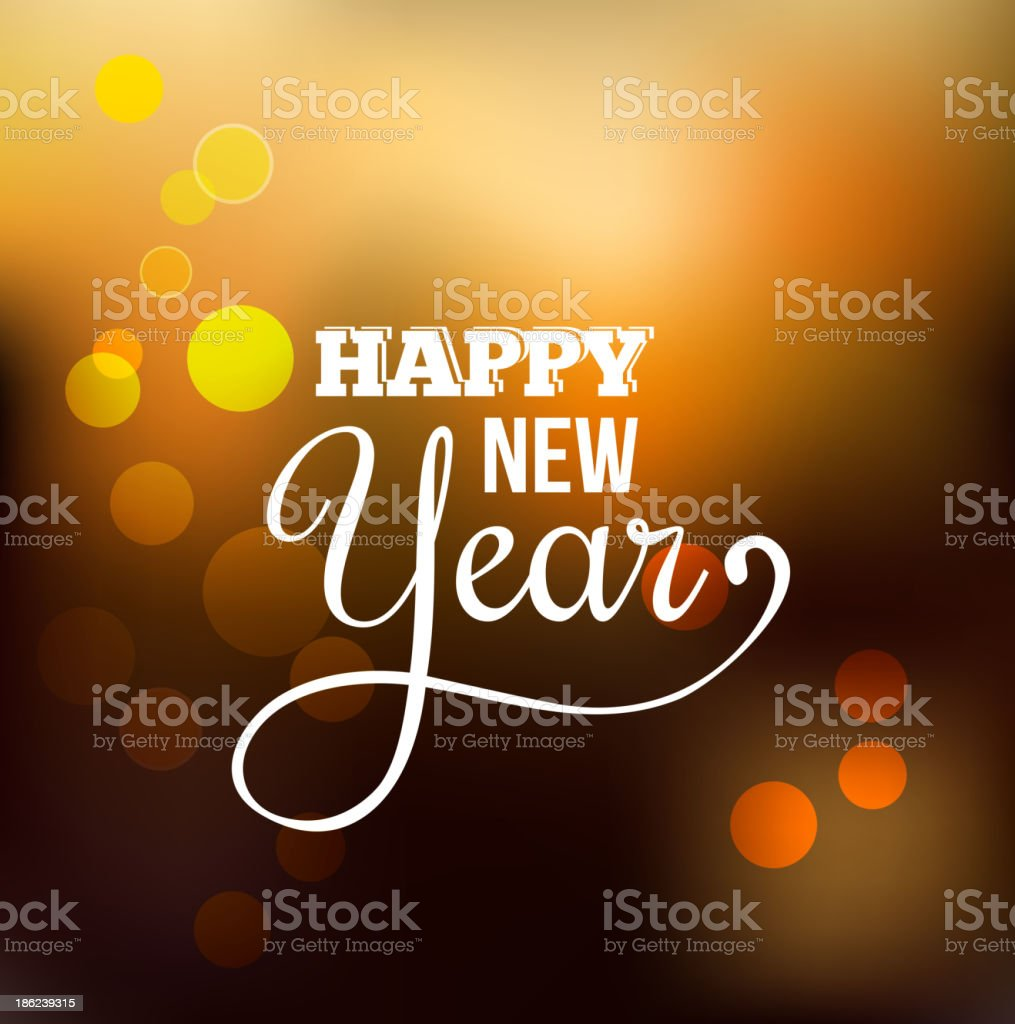 Happy New year abstract background vector art illustration