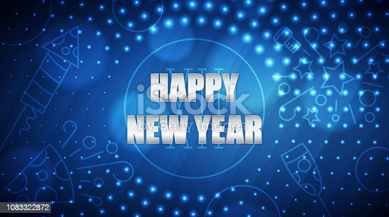 873264516istockphoto Happy New Year abstract light background 1083322872
