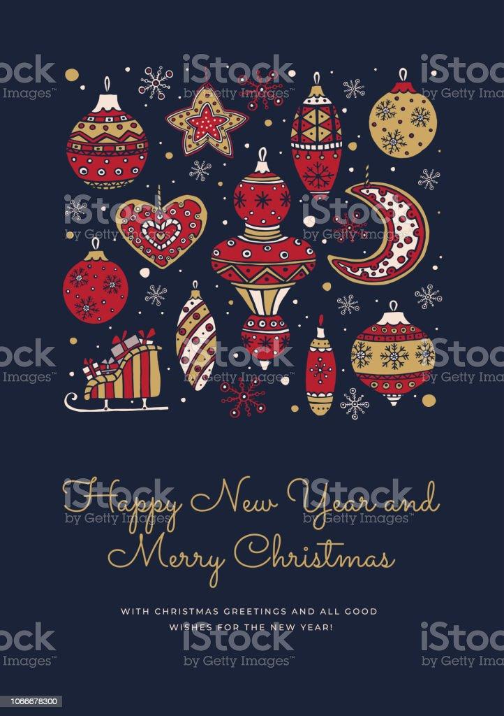Noël Et Bonne Année Composition Dun Message écrit De Vacances Pour Le Nouvel An Vecteurs Libres De Droits Et Plus Dimages Vectorielles De Affiche