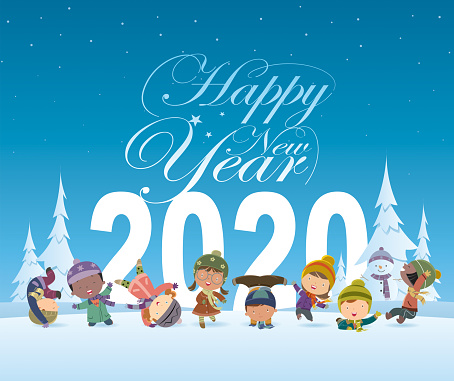 happy new year and kids