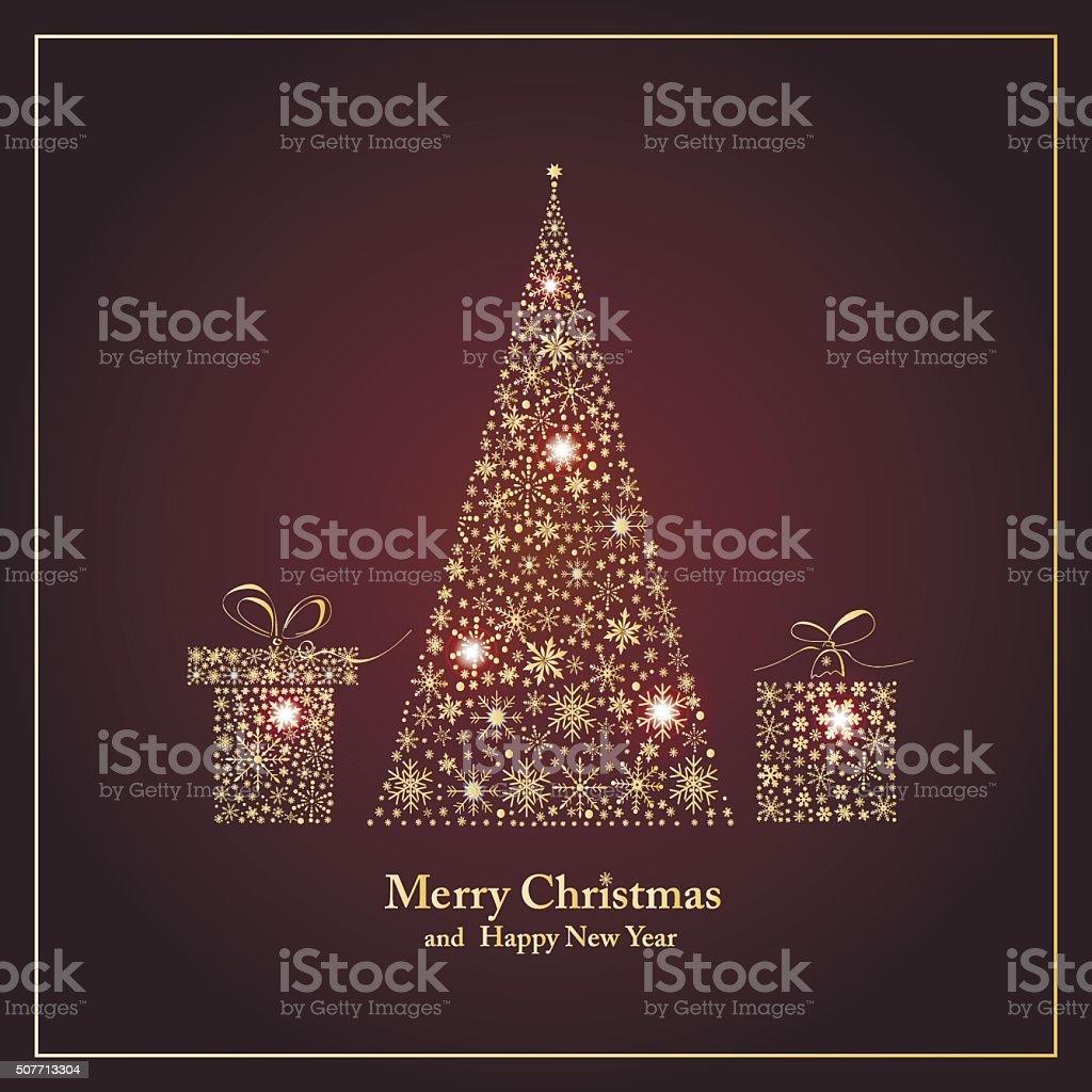 Frohes Neues Jahr Und Weihnachten Heiraten Stock Vektor Art und mehr ...