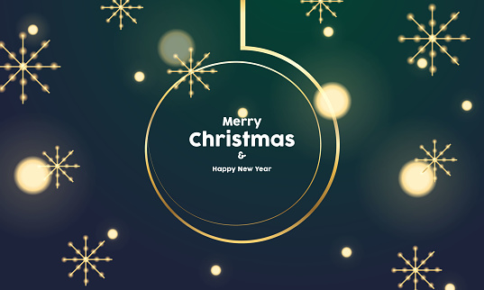 Happy new year And Merry Christmas background template vector illustration