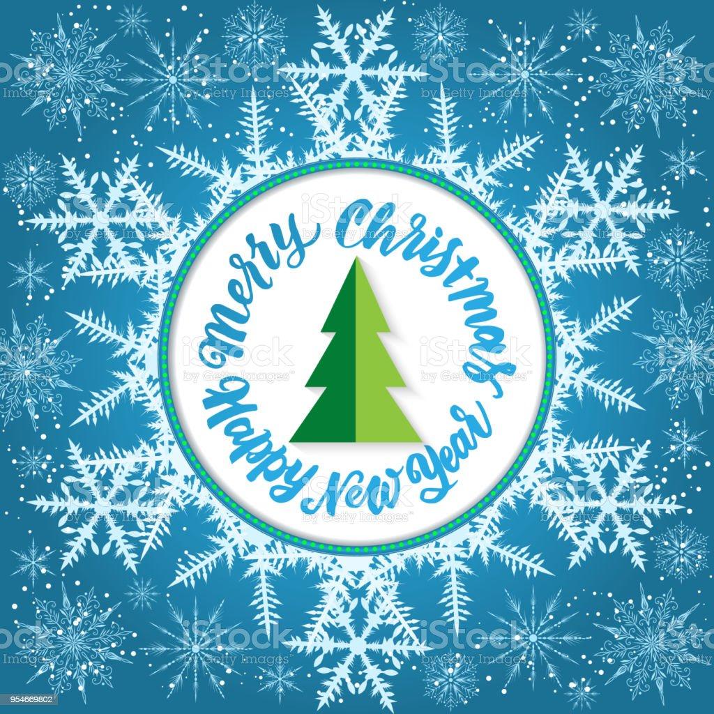 Happy New Year And Merry Christmas Gift Card Elegant Handwritten ...
