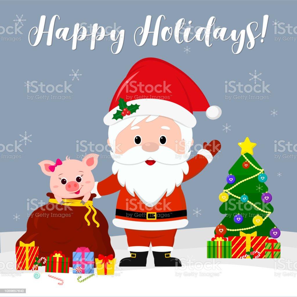 Frohe Weihnachten Grüße.Glückliches Neues Jahr Und Frohe Weihnachten Gruß Card Süßer