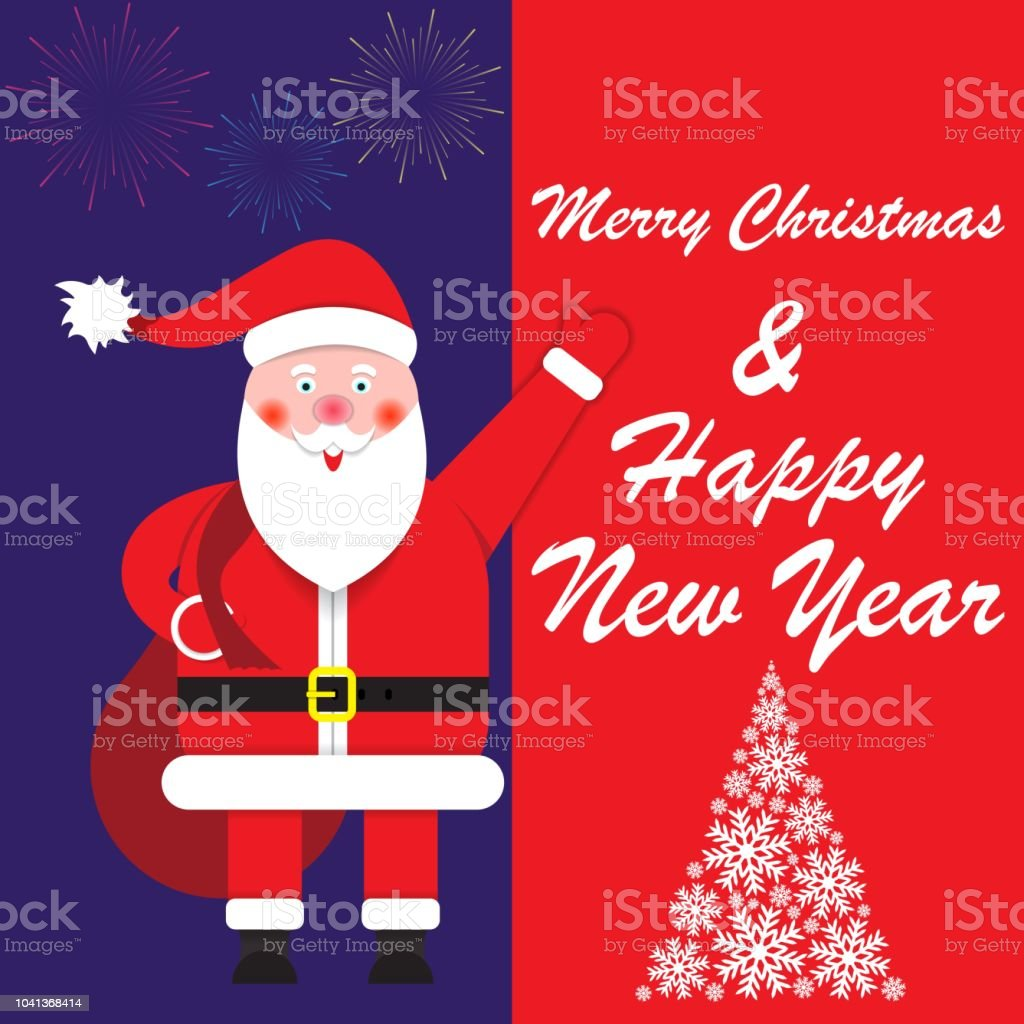 Happy New Year And Merry Christmas Greetings Stock Vector Art More