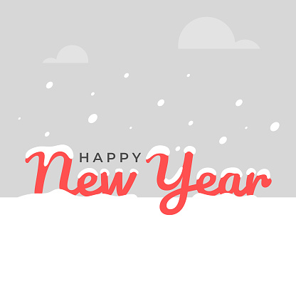 Happy New Year and Snowly Day Vector Design.