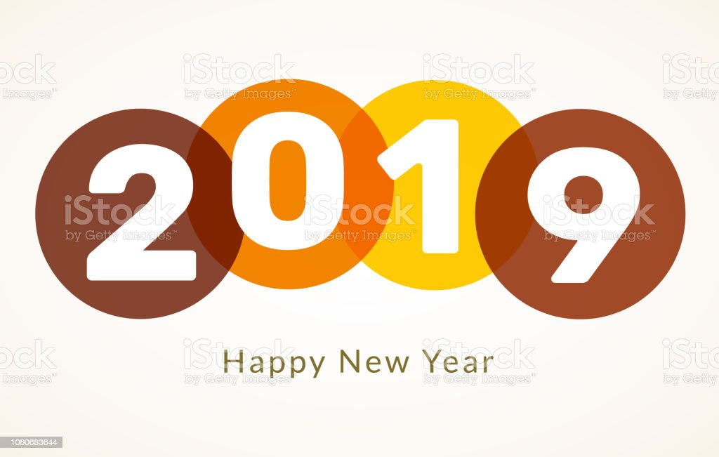2019 happy new year background creative design card flyer invitation posters brochure