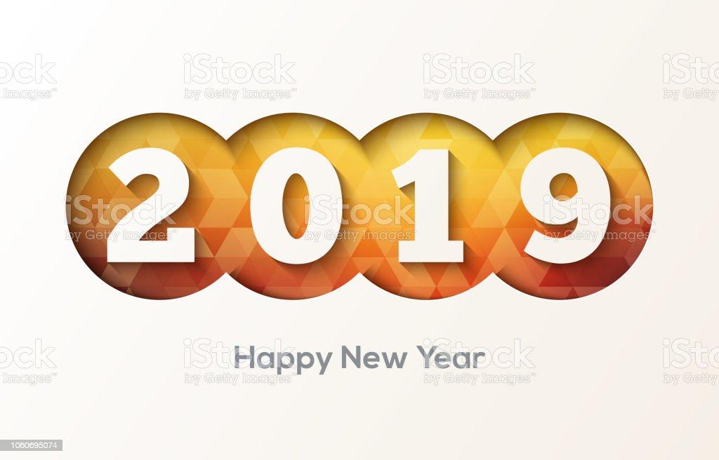 2019 Happy New Year Hintergrund Kreativ Gestalten Karten Flyer