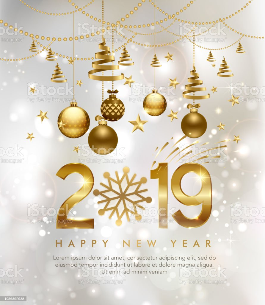 2019 Happy New Year Background For Your Seasonal Flyers