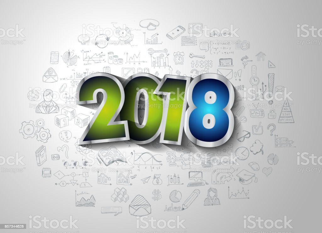 2018 Happy New Year Background For Your Seasonal Flyers And ...