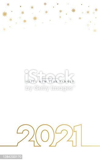 istock 2021 Happy New Year background. Seasonal greeting card template. stock illustration 1284200170