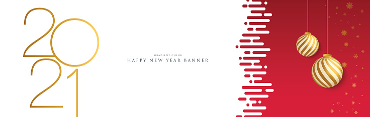 2021 Happy New Year background. Seasonal greeting card template. stock illustration