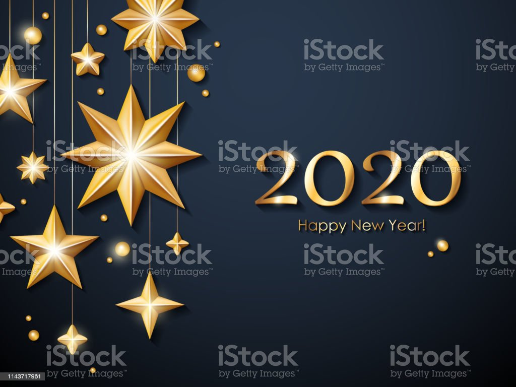 modèle carte de voeux 2020 2020 Happy New Year Background Seasonal Greeting Card Template