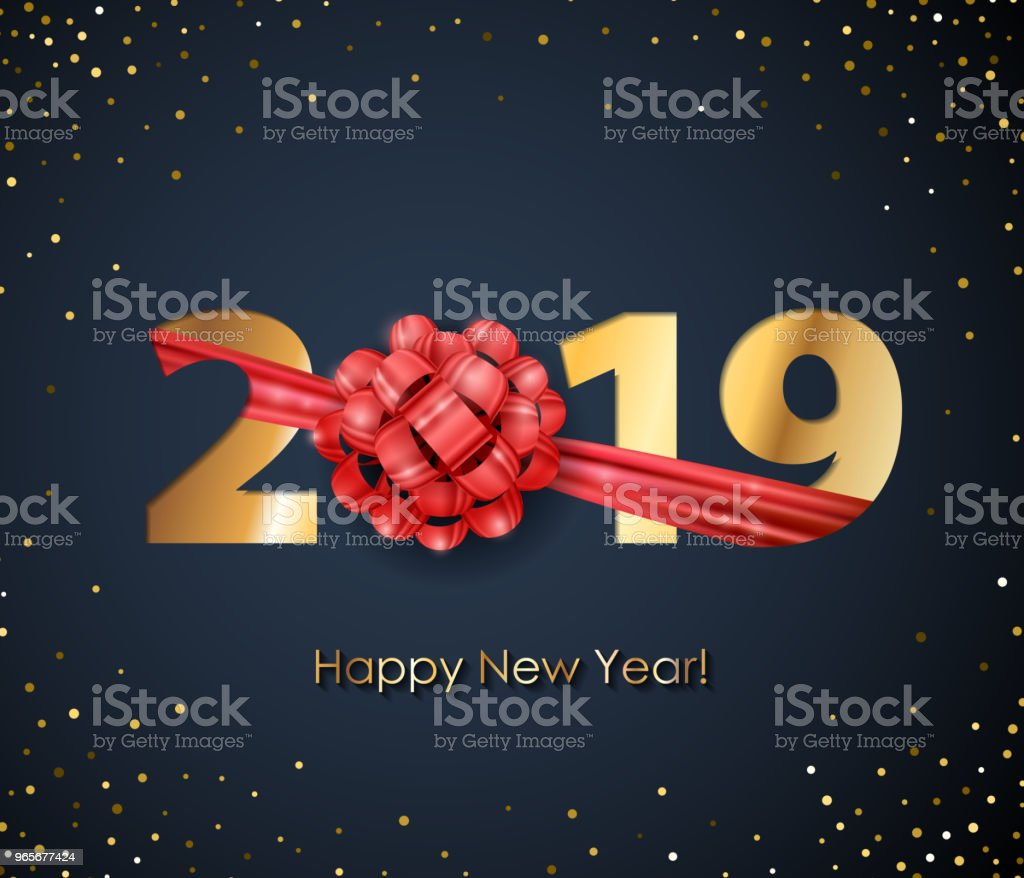 2019 happy new year background seasonal greeting card template royalty free 2019 happy new