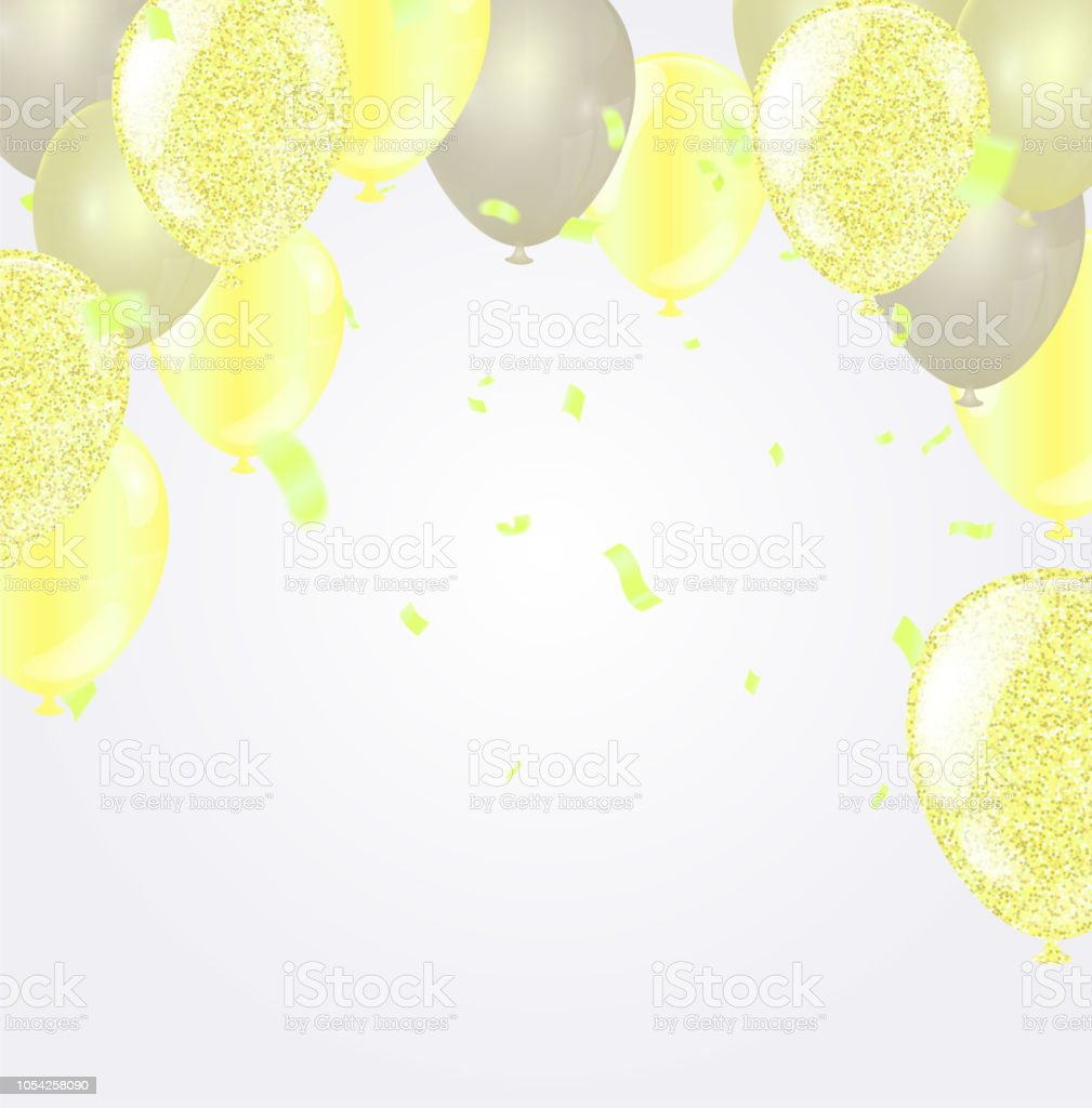 2019 happy new year background stars colorful happy birthday background with set of colorful balloons royalty