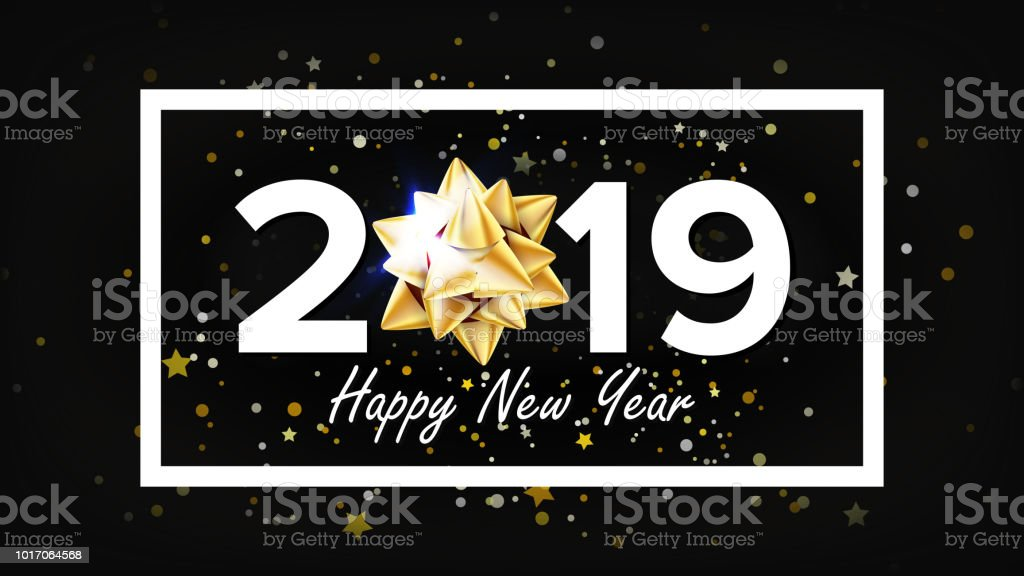 2019 happy new year background vector greeting card design template christmas illustration royalty