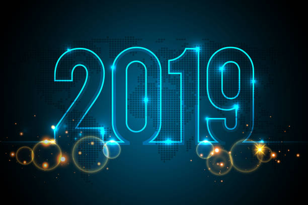 2019 happy new year background - new years day stock illustrations