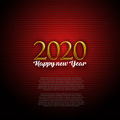 Happy New Year, 2020, Background. Elements are grouped.contains eps10 and high resolution jpeg.