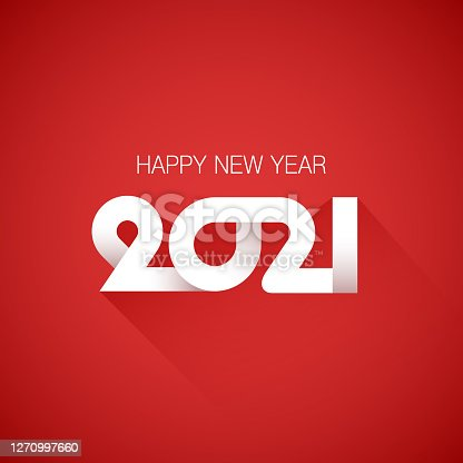Vector illustration of 2021 happy new year background.