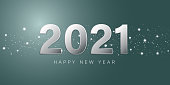 2021 Happy New Year background. star with bokeh. vector illustration greeting card and poster design.