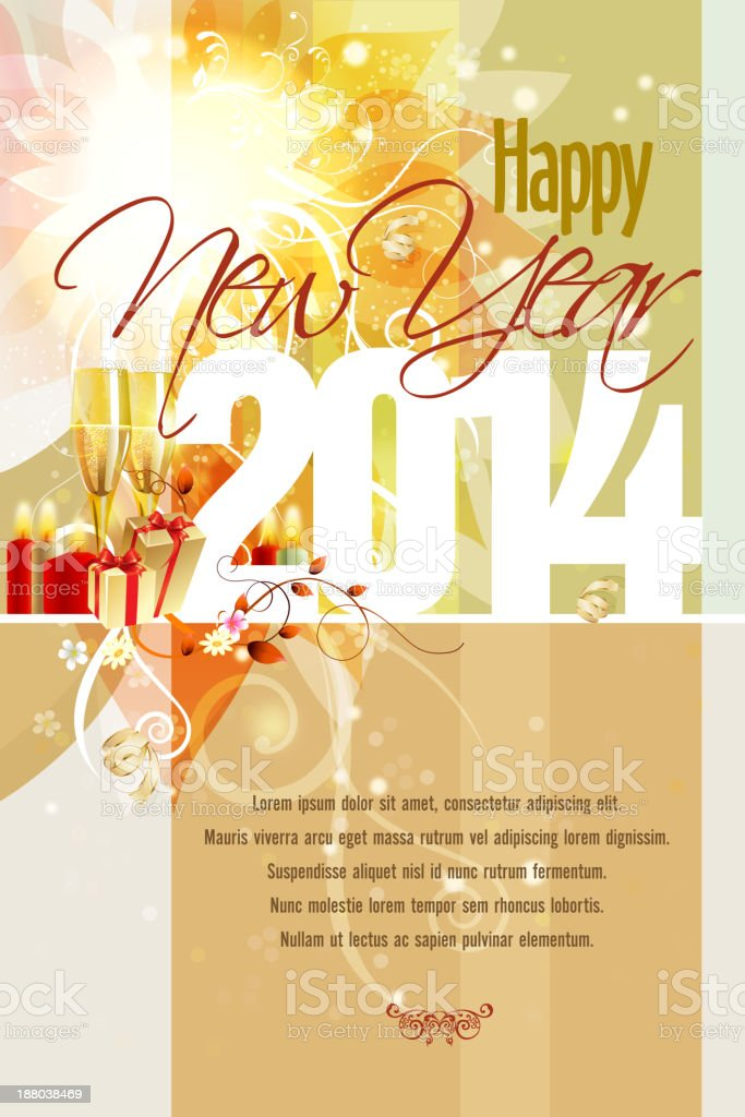 Happy New Year Background royalty-free happy new year background stock vector art & more images of 2014