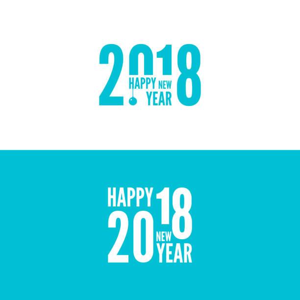 stockillustraties, clipart, cartoons en iconen met 2018 gelukkig nieuwjaar achtergrond - 2018