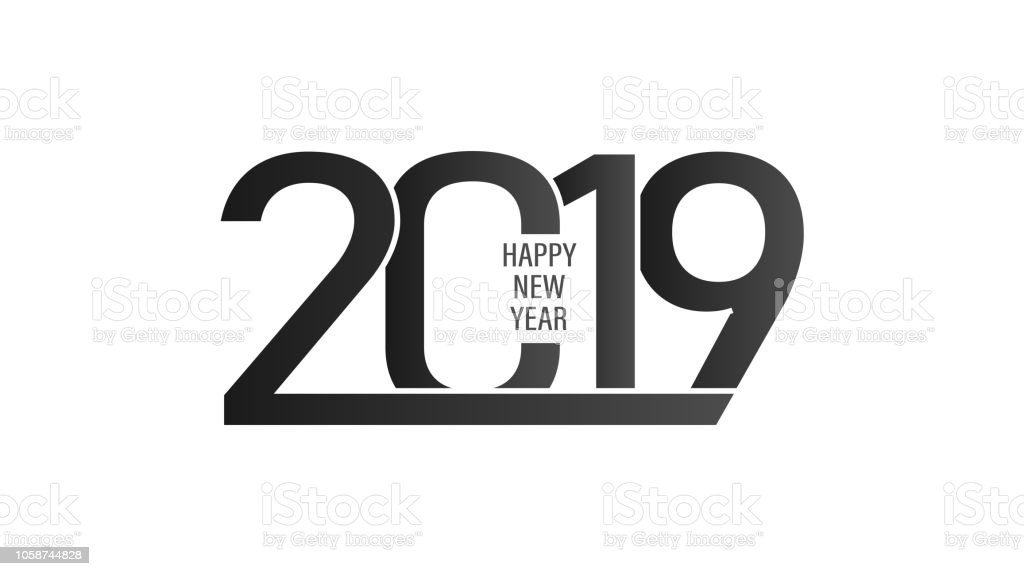 2019 happy new year background with black and white colors royalty free 2019 happy