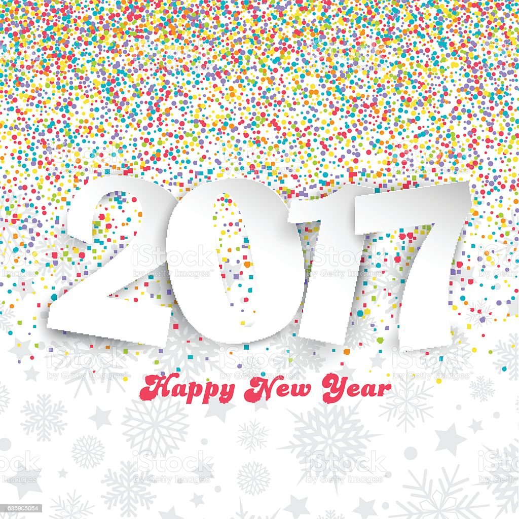 happy new year background with colourful confetti royalty free happy new year background with colourful