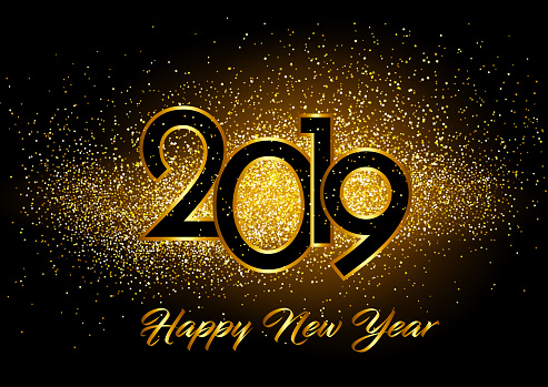 Happy New Year background with glitter effect