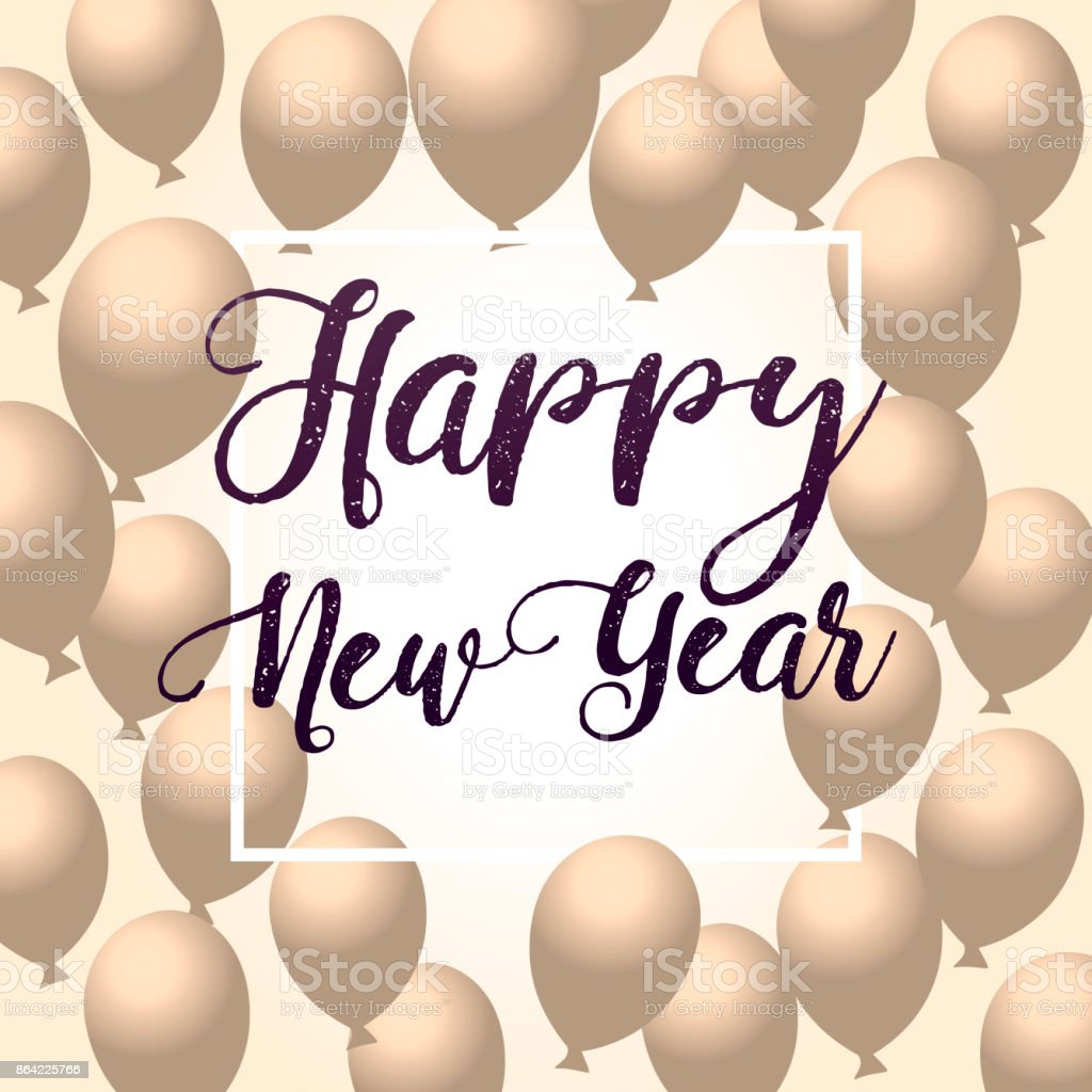 2018 Happy New Year ballon. black background, glitter frame, golden, text. Greeting card concept, vector illustration. Holidays black luxury poster. art royalty-free 2018 happy new year ballon black background glitter frame golden text greeting card concept vector illustration holidays black luxury poster art stock vector art & more images of 2015