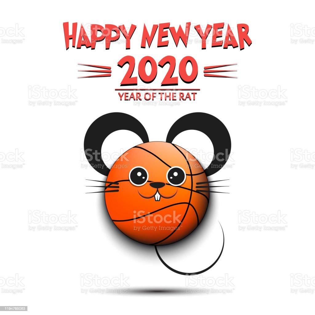 明けましておめでとうネズミの形で作られたバスケットボールボール 年のベクターアート素材や画像を多数ご用意 Istock