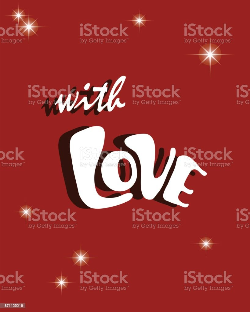 happy new year card celebration concept with love text vector illustration royalty free happy