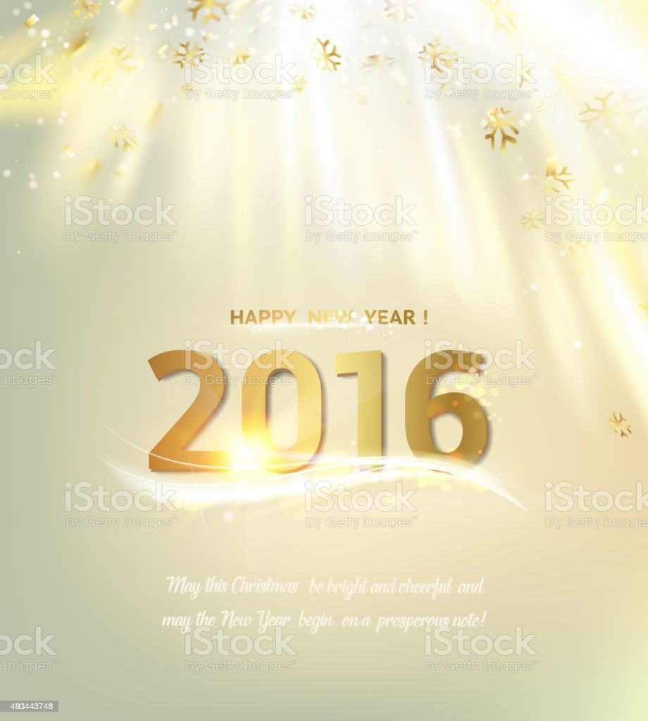 Happy New Year Card Stock Vector Art & More Images of 2015 493443748 ...