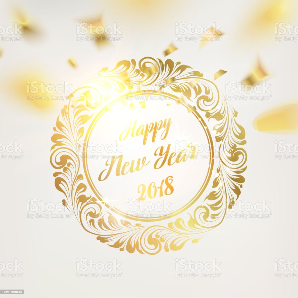 Happy New Year Card Stock Vector Art & More Images of 2017 862188696 ...