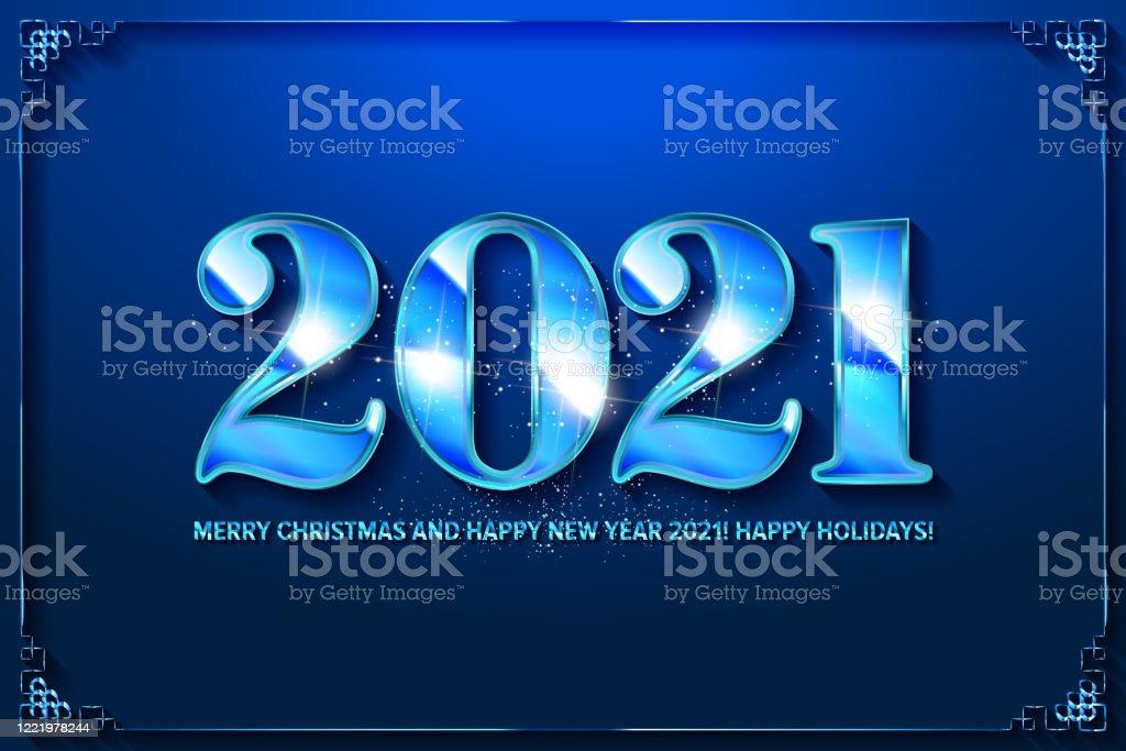 Happy New Year Celebration 2021 Stock Illustration - Download Image Now - iStock