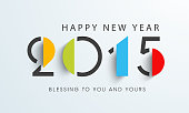 Happy New Year celebration with stylish text design.
