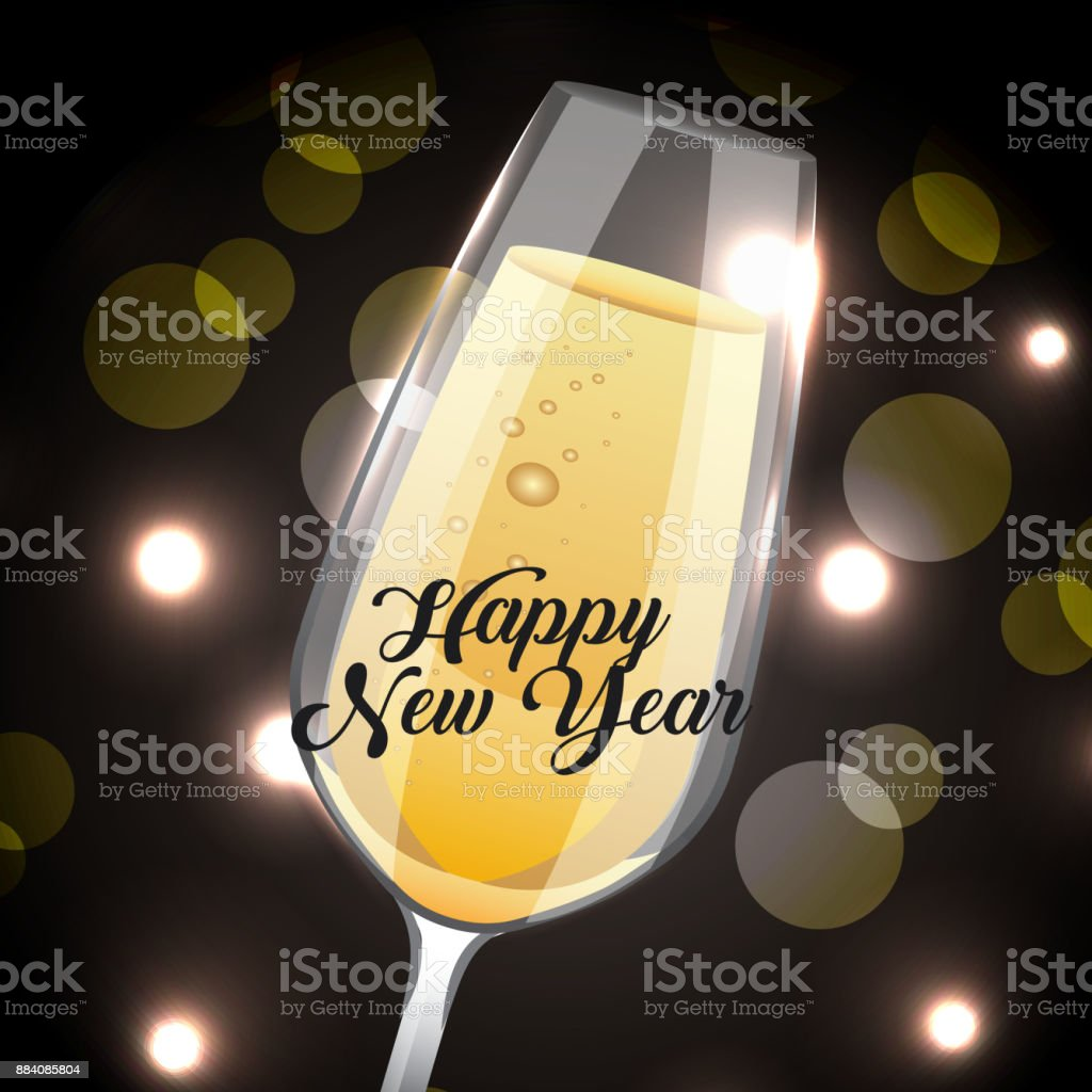 happy new year champagne glass drink blurred background royalty free happy new year champagne glass